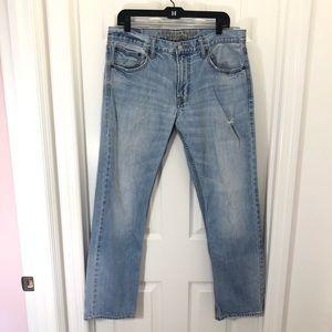 AEO Men's Light Wash Slim Straight Jeans